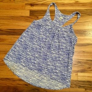 CONVERSE blue & white line patterned tank